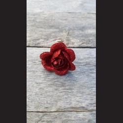 Květ zápich - růže červená glitrová