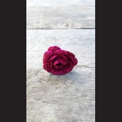 Květ zápich - růže fuchsiová glitrová
