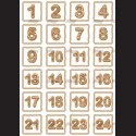 Filc A4 adventní kalendář perníčky