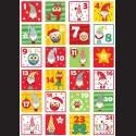 Filc A4 adventní kalendář skřítci a sovičky