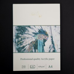 Umělecký blok SMLT art - na akrylové barvy, kvalitní papíry 10xA4, gramáž 420g