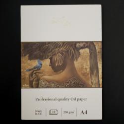 Umělecký blok SMLT art - na olejové i akrylové barvy, kvalitní lněné papíry 10xA4, gramáž 230g