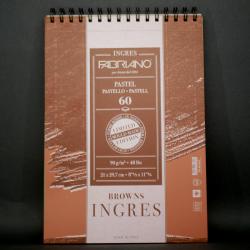 Umělecký blok FABRIANO - vhodné pro pastel,  60xA4, 90g, hnědý papír