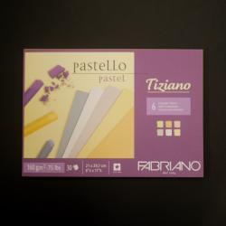 Umělecký blok FABRIANO - vhodné pro pastel, tužku, uhel,  30xA4, 160g, 6 barev