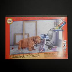 Skicák KOH-I-NOOR pro pastelky, tužky, popisovače, vodovky, 20xA4, 180g