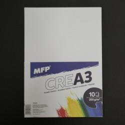 Kreslicí karton MFP na vodovky, fixy a pastelky, 10xA3, 250g
