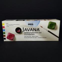 Barvy na hedvábí a textil JAVANA basic, vhodné na světlý textil, 6x20 ml