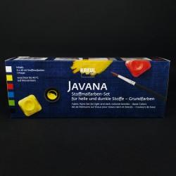 Barvy na textil JAVANA basic, vhodné na tmavý i světlý textil, 6x20 ml