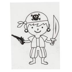 Smršťovací obrázek - pirát se šátkem