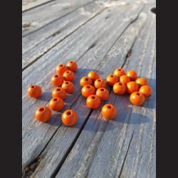 Dřevěné korálky oranžové 0,8mm-50g vhodné na korálkování, výrobu lapače snů, pedig. Vhodné po děti i dospělé