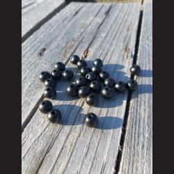 Dřevěné korálky černé 0,8mm-50g vhodné na korálkování, výrobu lapače snů, pedig. Vhodné po děti i dospělé