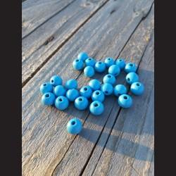 Dřevěné korálky světle modré 10 mm-50g vhodné na korálkování, výrobu lapače snů, pedig. Vhodné po děti i dospělé