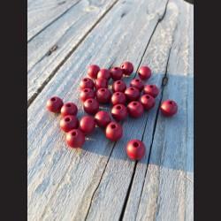 Dřevěné korálky tmavě růžové 10 mm-50g vhodné na korálkování, výrobu lapače snů, pedig. Vhodné po děti i dospělé