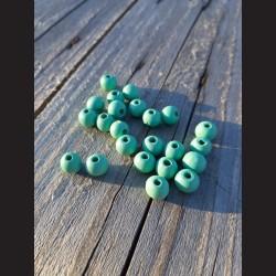 Dřevěné korálky pistáciové 10 mm-50g vhodné na korálkování, výrobu lapače snů, pedig. Vhodné po děti i dospělé