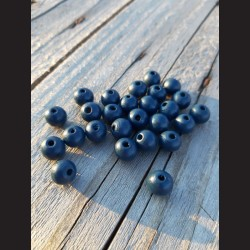 Dřevěné korálky tmavě modré 10 mm-50g vhodné na korálkování, výrobu lapače snů, pedig. Vhodné po děti i dospělé