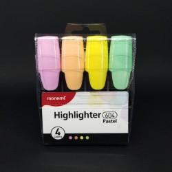 Zvýrazňovače, pastel, 4ks, na různé druhy papíru