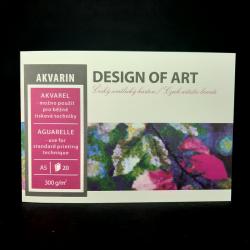 Blok Akvarin, A5, 300g, 20 listů, vhodné na akvarel a běžné tiskové techniky