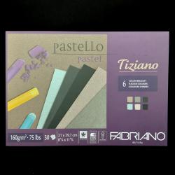 Umělecký blok FABRIANO pro pastel, uhel, airbrush a tužku, 30xA4, 160g