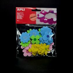 Filcové samolepky - Květy, ideální na dětské tvoření