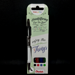 Sada brushpenů, 4ks, ideální na handlettering nebo kaligrafii