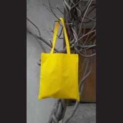 Bavlněná taška žlutá - sunflower s dlouhým uchem na nákupy. Vhodná k dalšímu dotvoření, např. barvami na textil, vyšíváním aj.