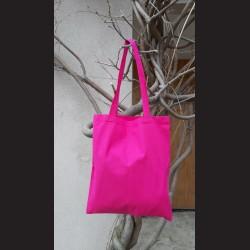 Bavlněná taška s dl. uchem, tmavě růžová