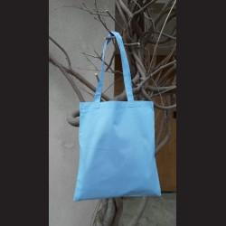 Bavlněná taška sv.modrá-sky blue s dlouhým uchem na nákupy. Vhodná k dalšímu dotvoření, např. barvami na textil, vyšíváním aj.