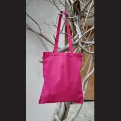 Bavlněná taška vínová - claret s dlouhým uchem na nákupy. Vhodná k dalšímu dotvoření, např. barvami na textil, vyšíváním aj.