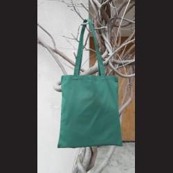 Bavlněná taška tm.zelená-bottle green s dlouhým uchem na nákupy. Vhodná k dalšímu dotvoření,např.barvami na textil,vyšíváním aj.