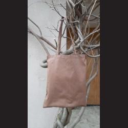 Bavlněná taška oříšková - chesnut s dlouhým uchem na nákupy. Vhodná k dalšímu dotvoření, např. barvami na textil, vyšíváním aj.