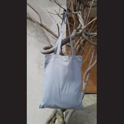 Bavlněná taška tm.šedá-dark grey s dlouhým uchem na nákupy. Vhodná k dalšímu dotvoření, např. barvami na textil, vyšíváním aj.