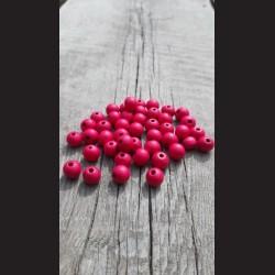 Dřevěné korálky růžové tmavé 0,8cm-50g vhodné na korálkování, výrobu lapače snů, pedig. Vhodné po děti i dospělé