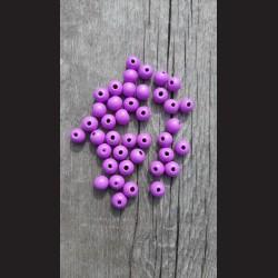 Dřevěné korálky fialové lila 0,8cm-50g vhodné na korálkování, výrobu lapače snů, pedig. Vhodné po děti i dospělé