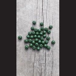 Dřevěné korálky zelené tmavé 0,8cm-50g vhodné na korálkování, výrobu lapače snů, pedig. Vhodné po děti i dospělé