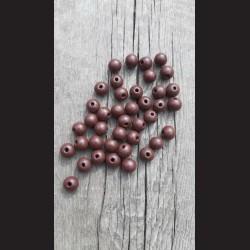 Dřevěné korálky hnědé tmavé 0,8cm-50g vhodné na korálkování, výrobu lapače snů, pedig. Vhodné po děti i dospělé