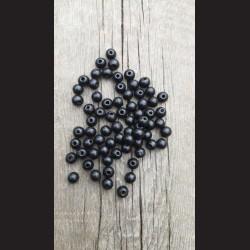 Dřevěné korálky černé 0,8cm-50g vhodné na korálkování, výrobu lapače snů, pedig. Vhodné po děti i dospělé