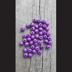 Dřevěné korálky fialové světlé 10 mm-50g vhodné na korálkování, výrobu lapače snů, pedig. Vhodné po děti i dospělé