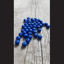 Dřevěné korálky berlínská modř 10 mm-50g vhodné na korálkování, výrobu lapače snů, pedig. Vhodné po děti i dospělé