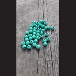 Dřevěné korálky zelené pistáciové 10 mm-50g vhodné na korálkování, výrobu lapače snů, pedig. Vhodné po děti i dospělé