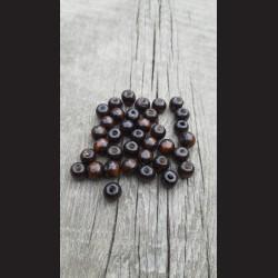 Dřevěné korálky hnědé 10 mm-50g vhodné na korálkování, výrobu lapače snů, pedig. Vhodné po děti i dospělé