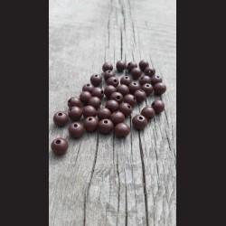 Dřevěné korálky hnědé tmavé 10 mm-50g vhodné na korálkování, výrobu lapače snů, pedig. Vhodné po děti i dospělé