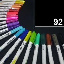 Popisovač / fix na textil Monami Brush - černý, 1,3 mm, k dekorování a dotvoření textilu, např. triček, tašek aj.