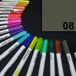 Popisovač / fix na textil Monami Brush - šedý, 1,3 mm, k dekorování a dotvoření textilu, např. triček, tašek aj.