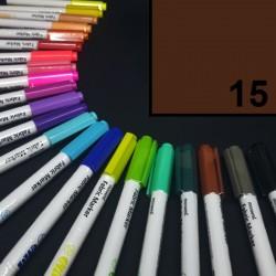 Popisovač / fix na textil Monami Brush - hnědý, 1,3 mm, k dekorování a dotvoření textilu, např. triček, tašek aj.