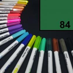 Popisovač / fix na textil Monami Brush - zelený, 1,3 mm, k dekorování a dotvoření textilu, např. triček, tašek aj.