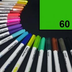 Popisovač / fix na textil Monami Brush - žlutozelený, 1,3 mm, k dekorování a dotvoření textilu, např. triček, tašek aj.