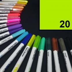 Popisovač / fix na textil Monami Brush - limetkový, 1,3 mm, k dekorování a dotvoření textilu, např. triček, tašek aj.