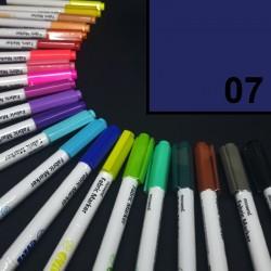 Popisovač / fix na textil Monami Brush - modrý, 1,3 mm, k dekorování a dotvoření textilu, např. triček, tašek aj.