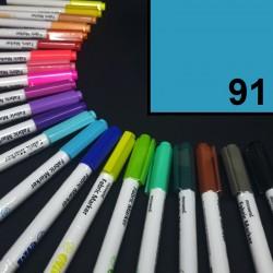 Popisovač / fix na textil Monami Brush - azurový, 1,3 mm, k dekorování a dotvoření textilu, např. triček, tašek aj.