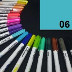 Popisovač / fix na textil Monami Brush - světle modrý, 1,3 mm, k dekorování a dotvoření textilu, např. triček, tašek aj.